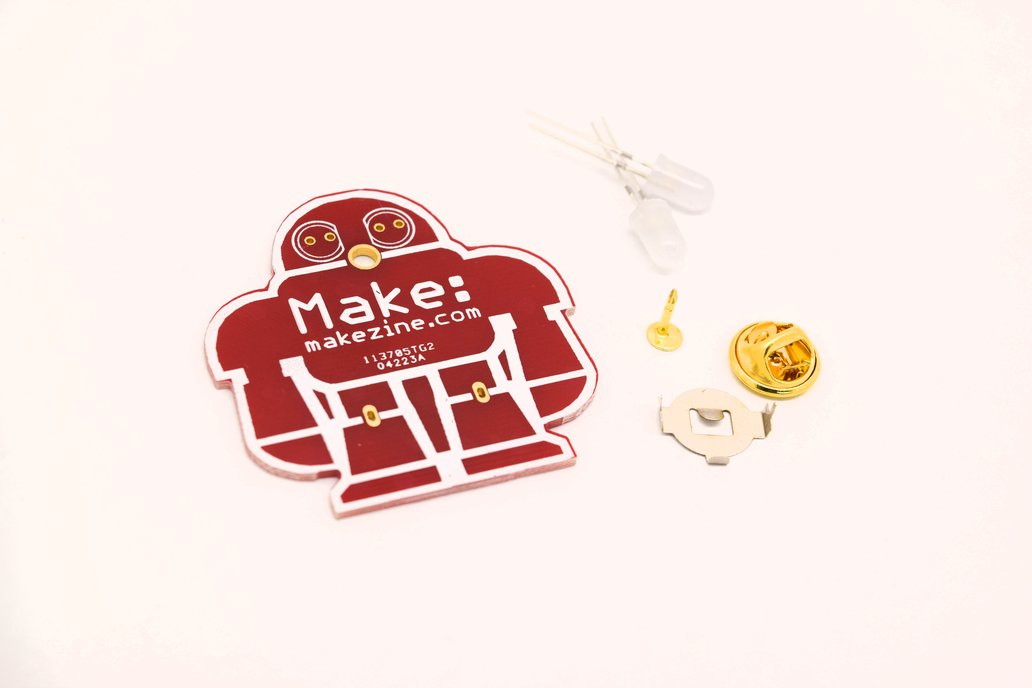 5pcs DIY makezine badge kit learn to solder 1