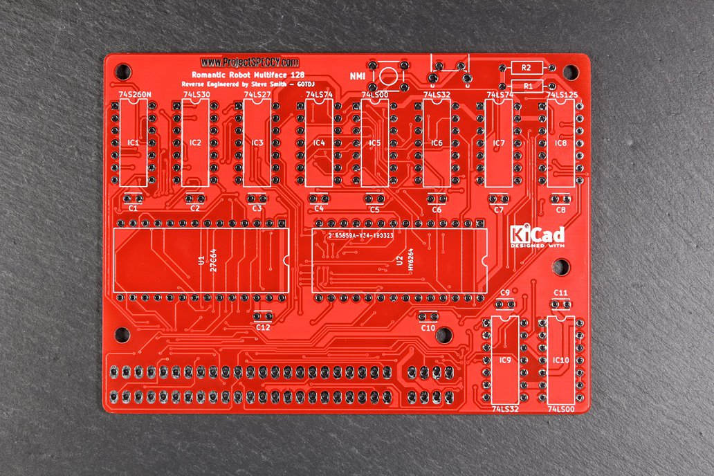 Recreated Multiface 128 - Bare Board 1