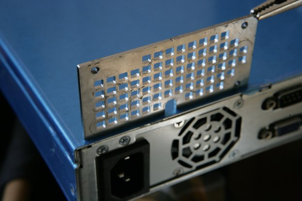 Vented PSU bracket for ASRock 1U12LW chassis