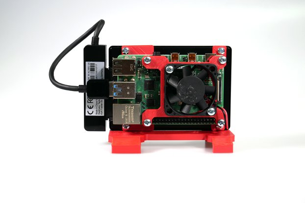 Case with SSD Support for Raspberry Pi