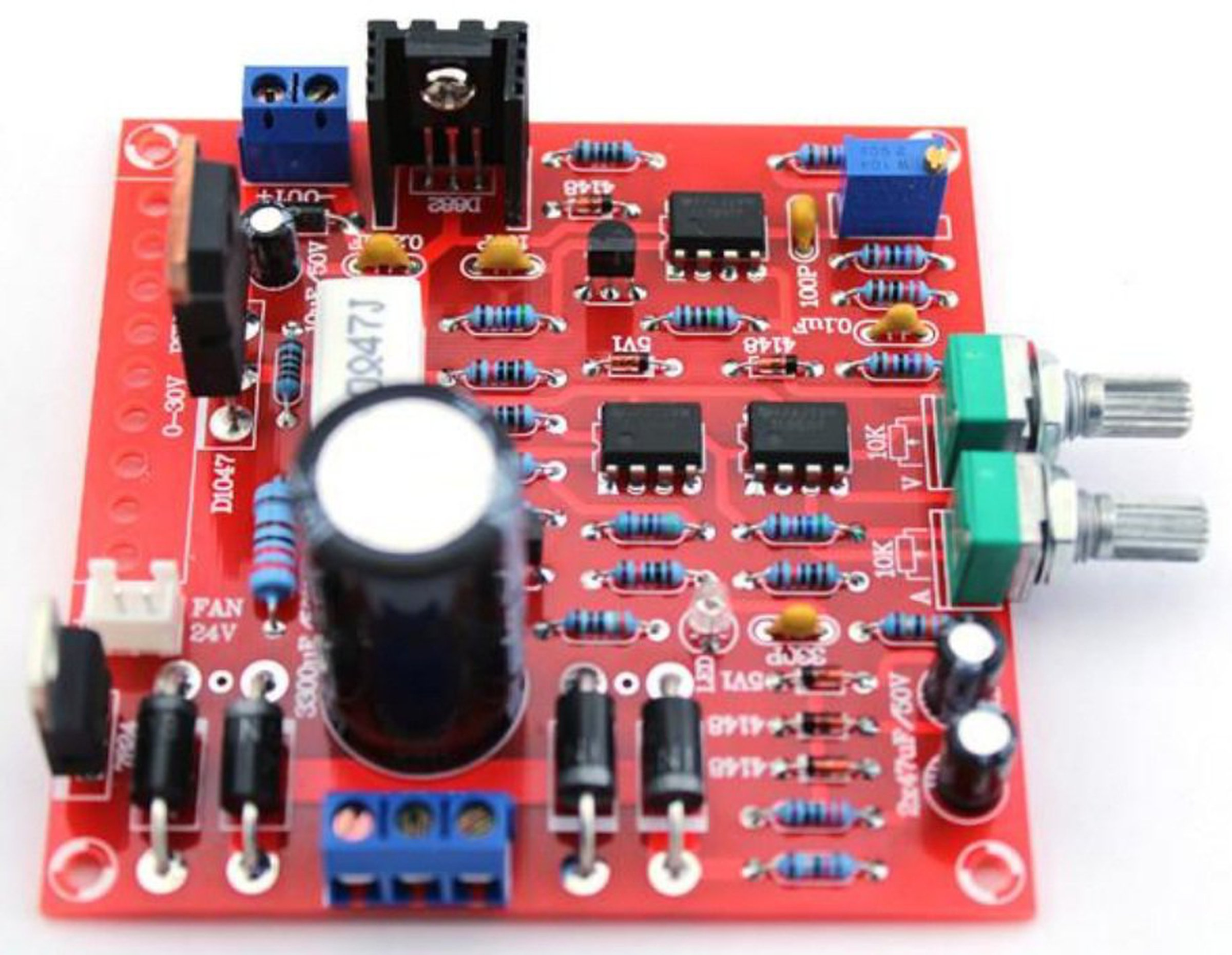 Precise Power Supply Adjustable 0 30v 3a Diy From Vitor Market On Circuit Diagram Of Regulated 2