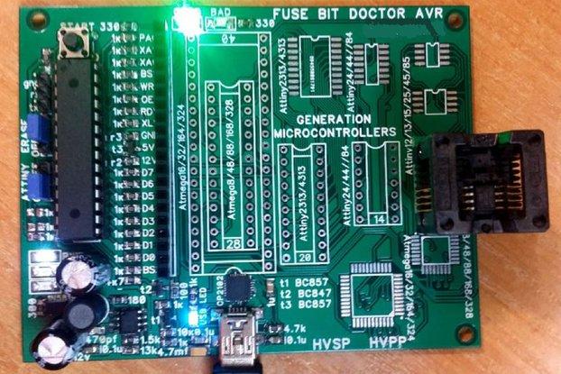 AVR FUSE Doctor - HVPP / HVSP - Programmer -