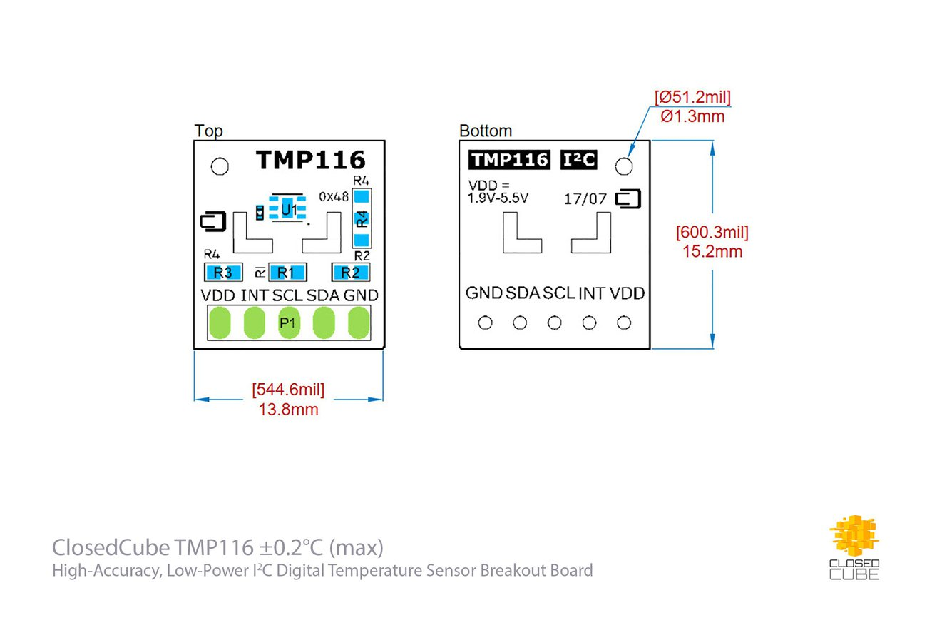 TMP116 ±0.2°C (–10°C..+85°C)  Temperature Sensor