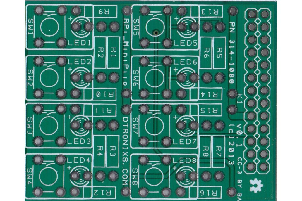 Raspberry PIIO - MiniPiio SimpleI/O add-on board 1