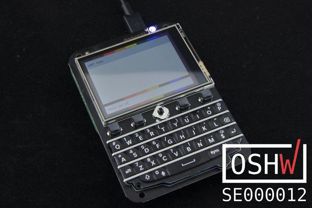 "Keyboard FeatherWing - QWERTY Keyboard + 2.6"" LCD 1"