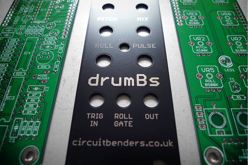 drumBs PCB's & panel - analogue percussion module 1