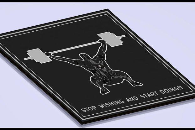 CrossFit PCB coaster