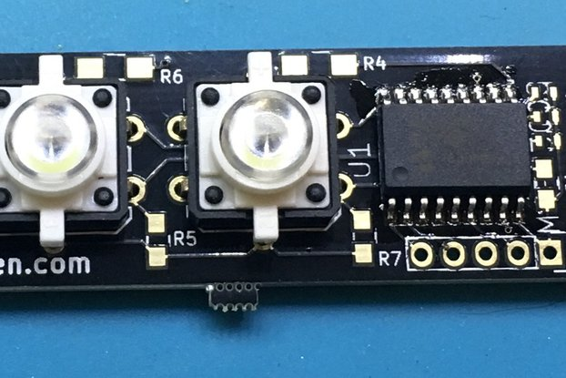 Mountable I2C PCB for 12mm Tactile Buttons