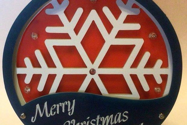 3D RGB Snowflake Ornament