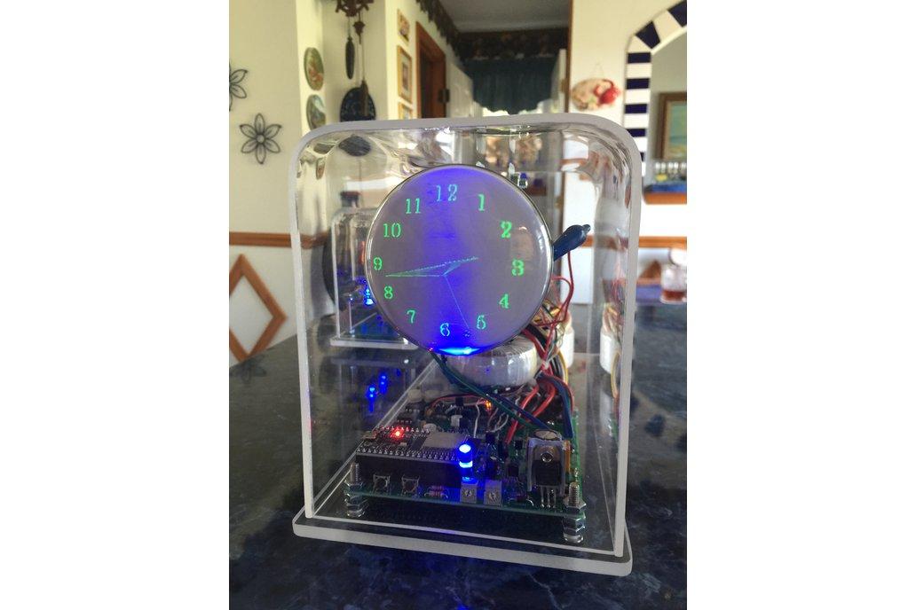 "Oscilloscope Clock round Cathode Ray Tube 3"" CRT 1"