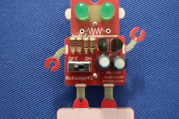 Robot Badge LED Blinking Eyes