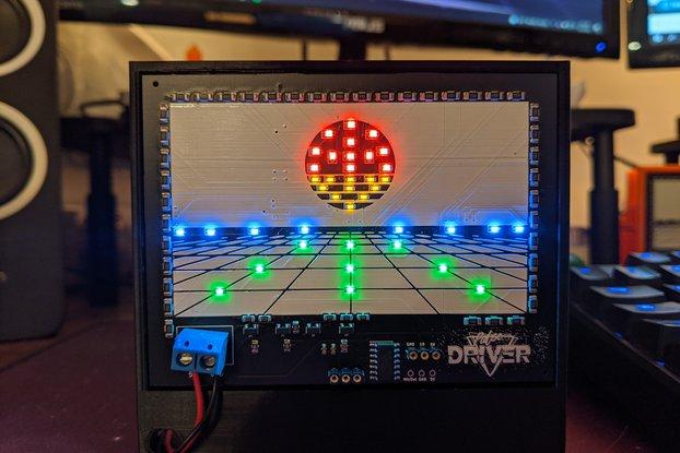 Pulse Driver Cyberpunk LED PCB Desk Ornament