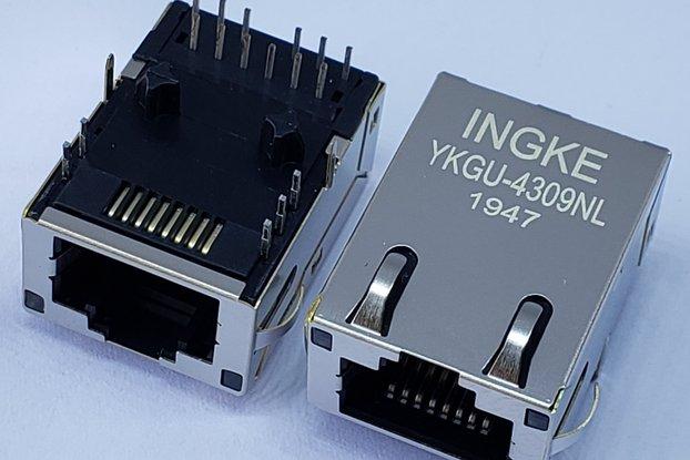 J0G-0001NL 1 Port Gigabit RJ45 Magjack Connector