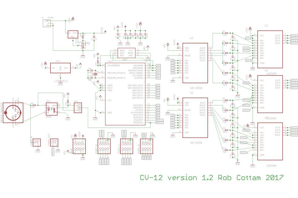 MIDI to CV Converter Kit Midimuso CV12 5