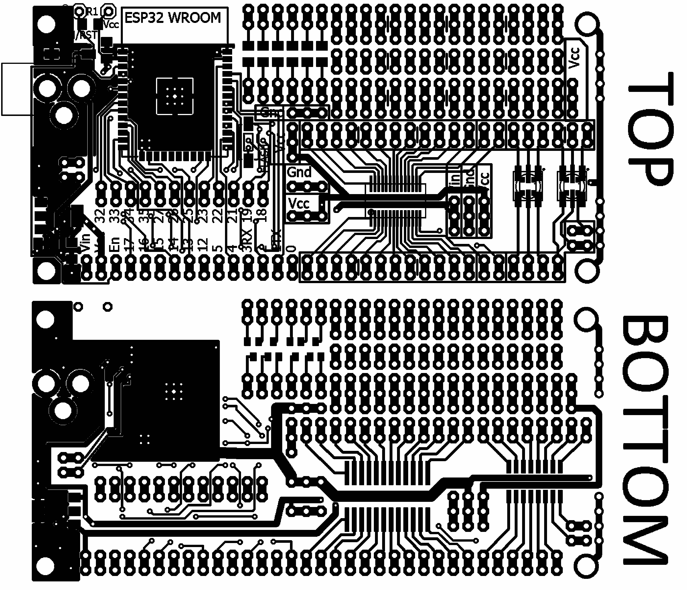 Esp32 Project Prototyping Board From Azzys Electronics On Tindie And Now Also A Picture Of The First Prototype For This Circuit 2