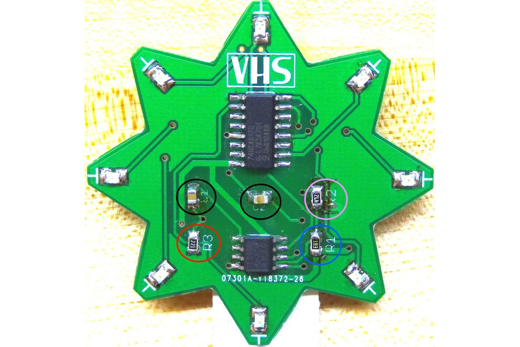 SMD STAR - learn to SMD solder kits 2