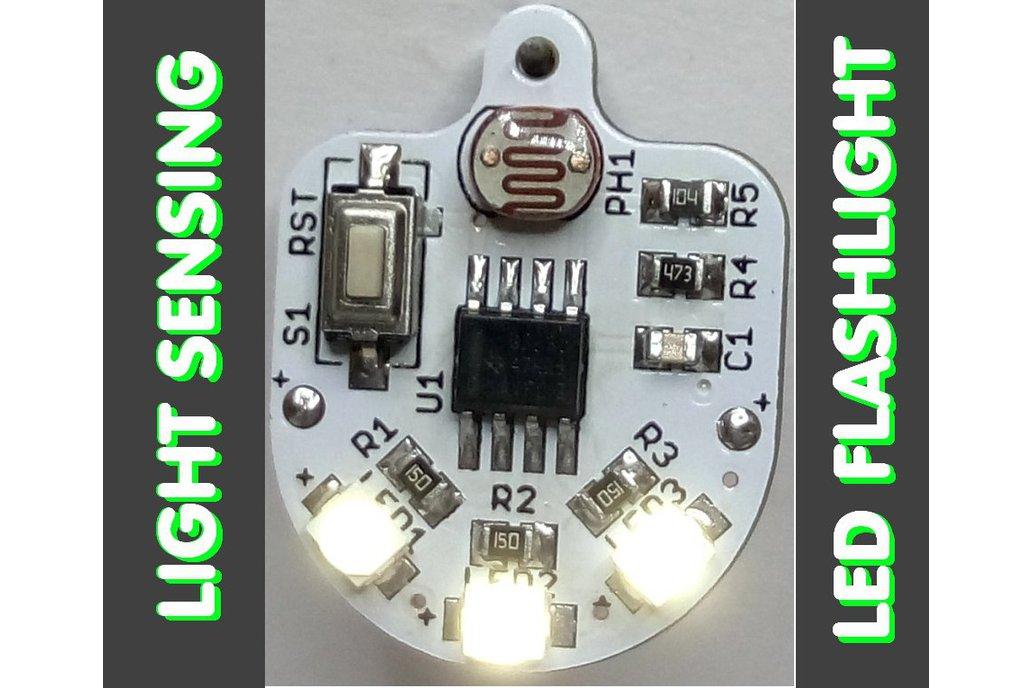 Light sensing smart LED flashlight KIT 1