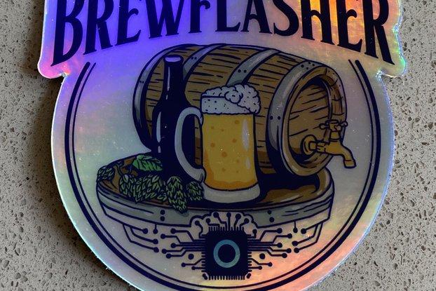 BrewFlasher Sticker