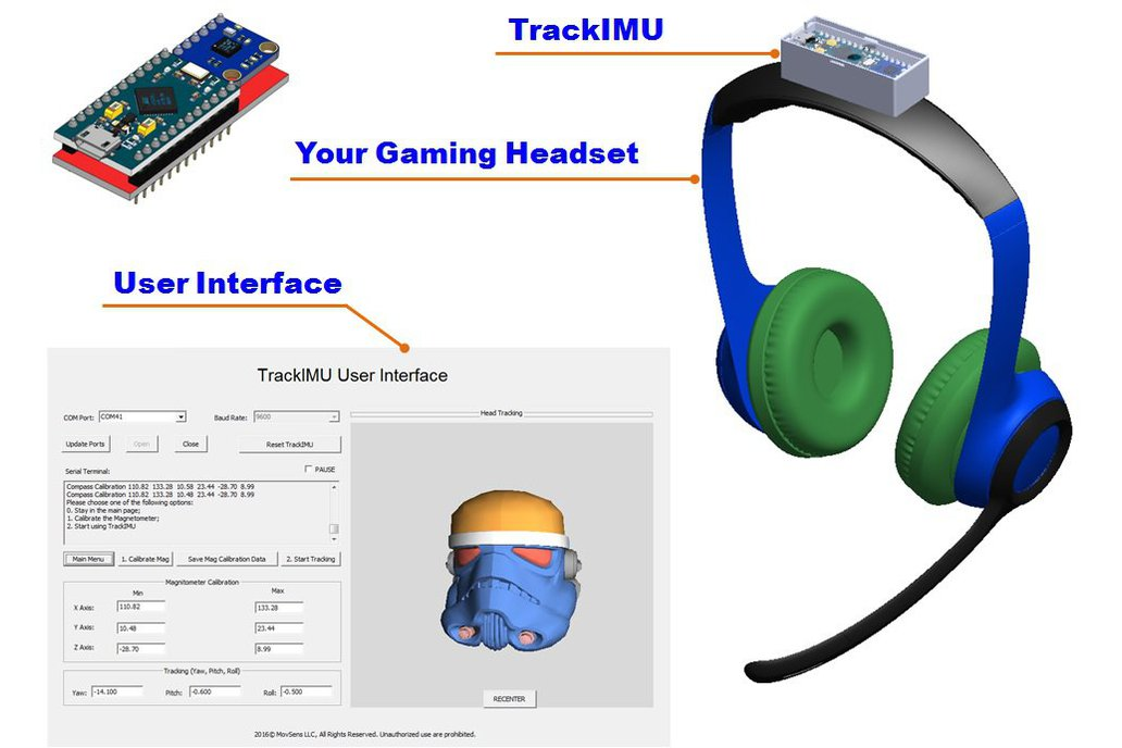 TrackIMU (DIY Kit): IMU-Based Wearable Head Track