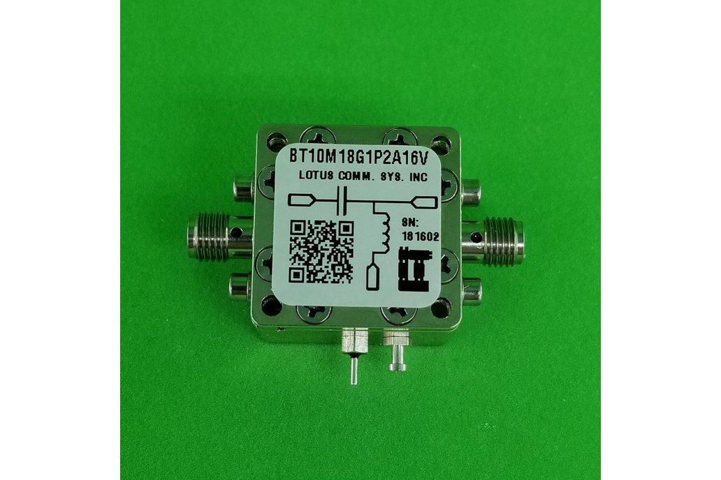 Bias Tee Broadband 10 MHz to 18 GHz 16V 1.2A 1