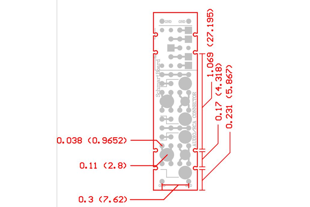 "Through Hole Audio/RCA Jack 0.5""x 2"" Grid 3"