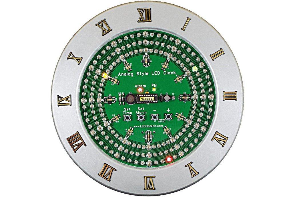 Analog Style LED Clock Kit 1