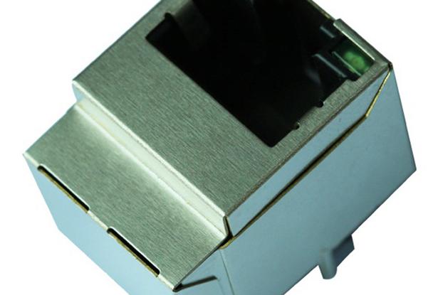 HFJV1-2450-L12RL Vertical RJ45 Jack Connector