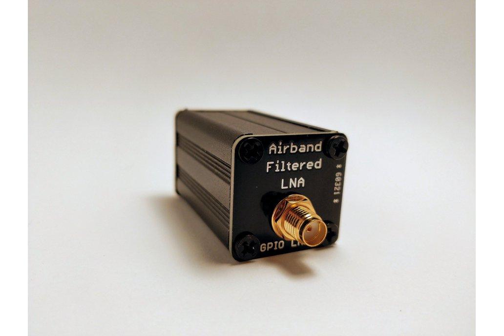 AIRBAND Filtered LNA in AL Enclosure; 118-140 MHz 1