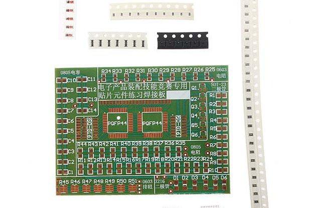 5 Pc SMD Component Solder Practice Kit