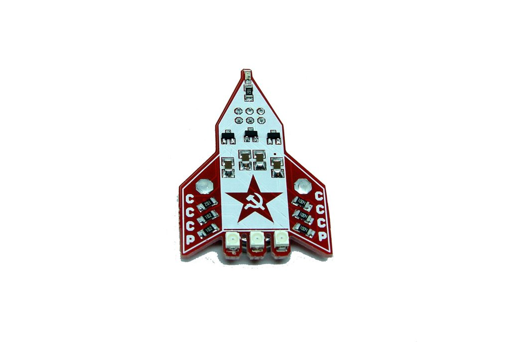 CCCP Russian rocket - LED learn to solder kit 1
