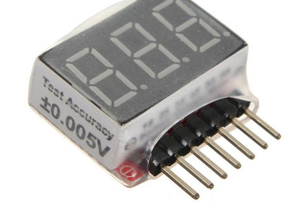 1S-6S Battery Voltage Meter Checker Low Voltage