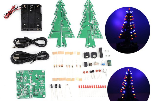 Sound Control Christmas Tree LED Kit (GY18597)