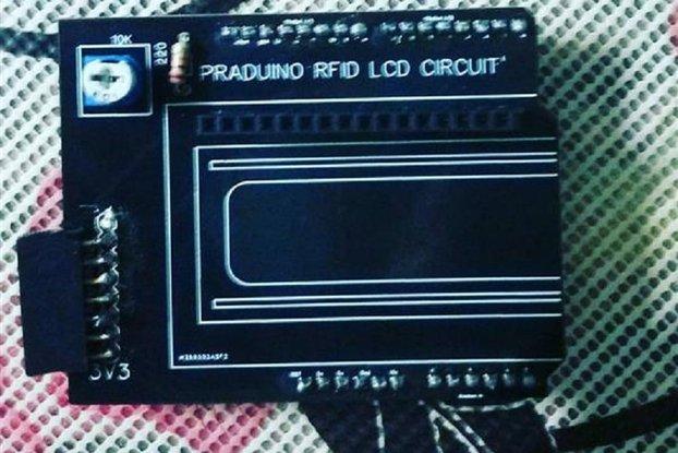 Rfid RC522 Arduino LCD 1602 based PCB