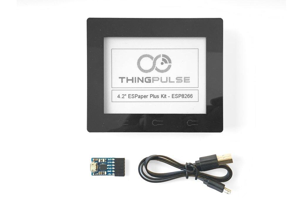 "ESP8266 - 4.2"" ESPaper Plus Module, WiFi ePaperESP 1"