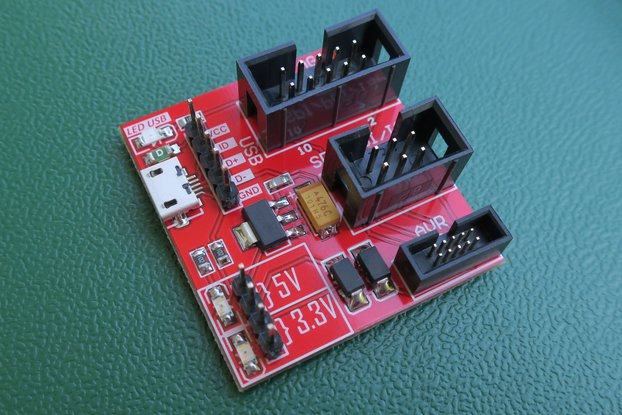 Adapter for Atmel-ice debugger.