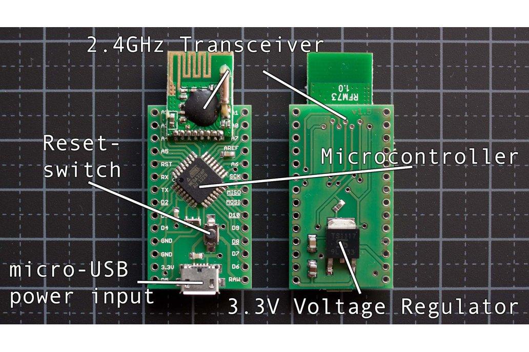 Radioduino: Arduino clone w/ 2.4G wireless transceiver 1