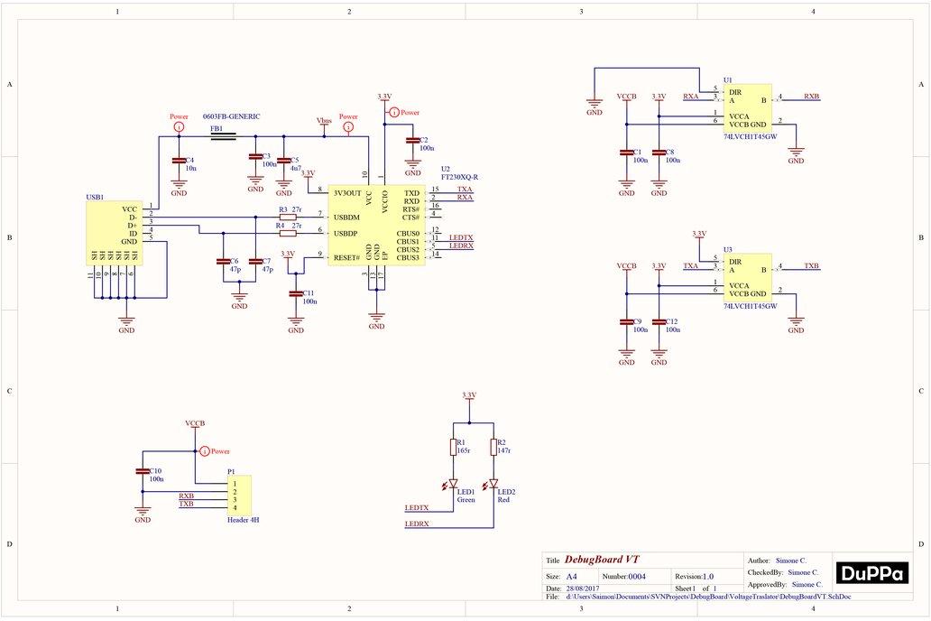 Debug Board USB to UART with Voltage Translator 6