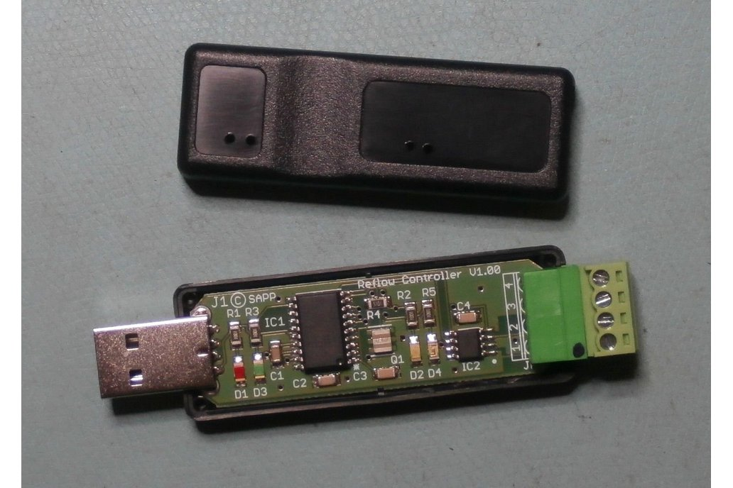 Software USB Reflow oven IR controller Win GUI 1