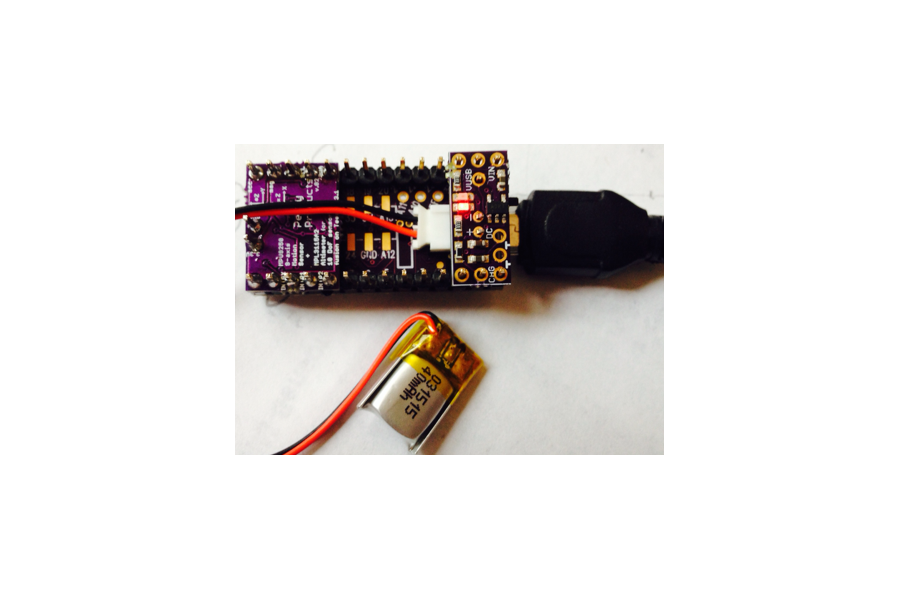 LiPo battery charger add-on for Teensy 3.1