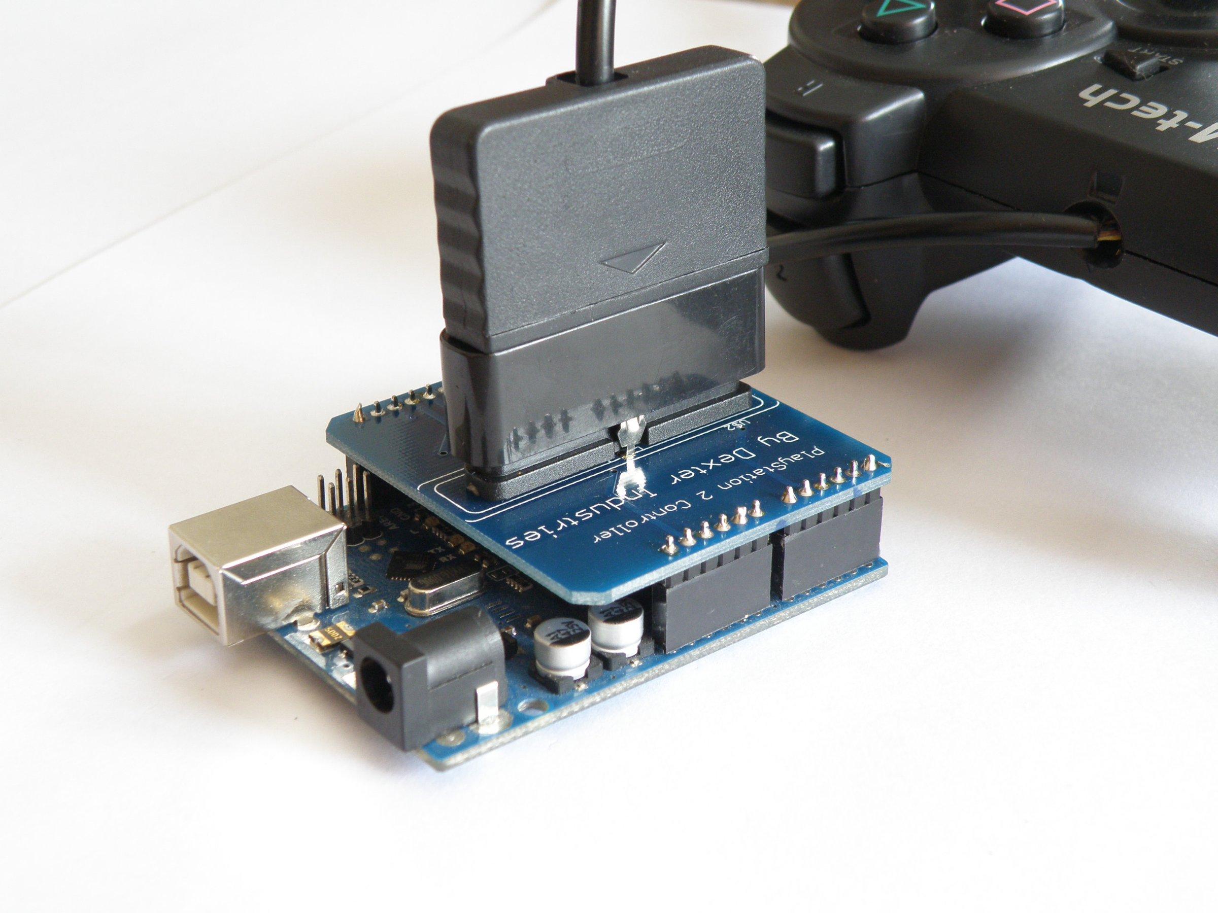 Arduino Playstation Dualshock Shield From Dexter Industries On Tindie Ps2 Power Schematic 3
