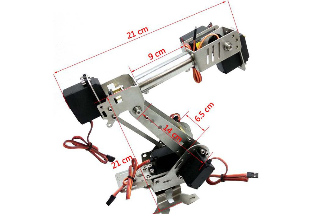 Stainless Steel 6 DoF Metal Robot Arm 5