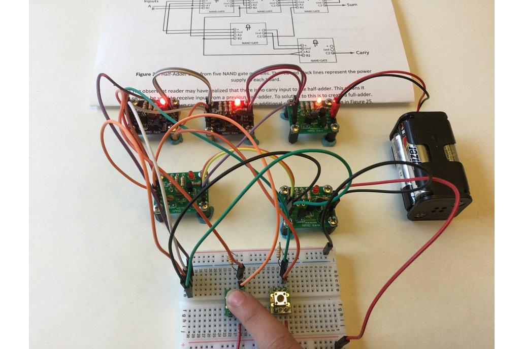 Half-Adder Built from Transistor/NAND Gates 2