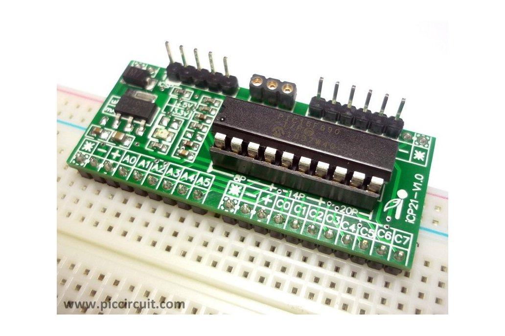 iCP21- Microchip 8, 14 & 20 pins PIC16  IO Board 10