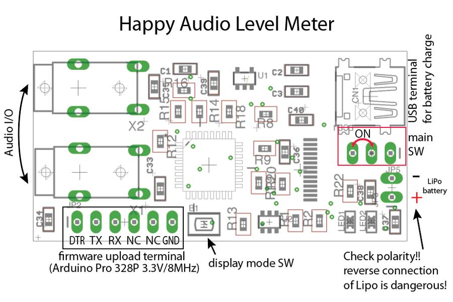 Tiny Audio Level Meter