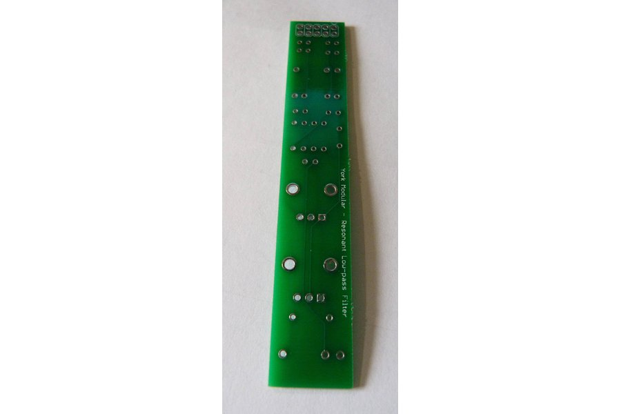 Resonant Sallen-Key low-pass filter PCB