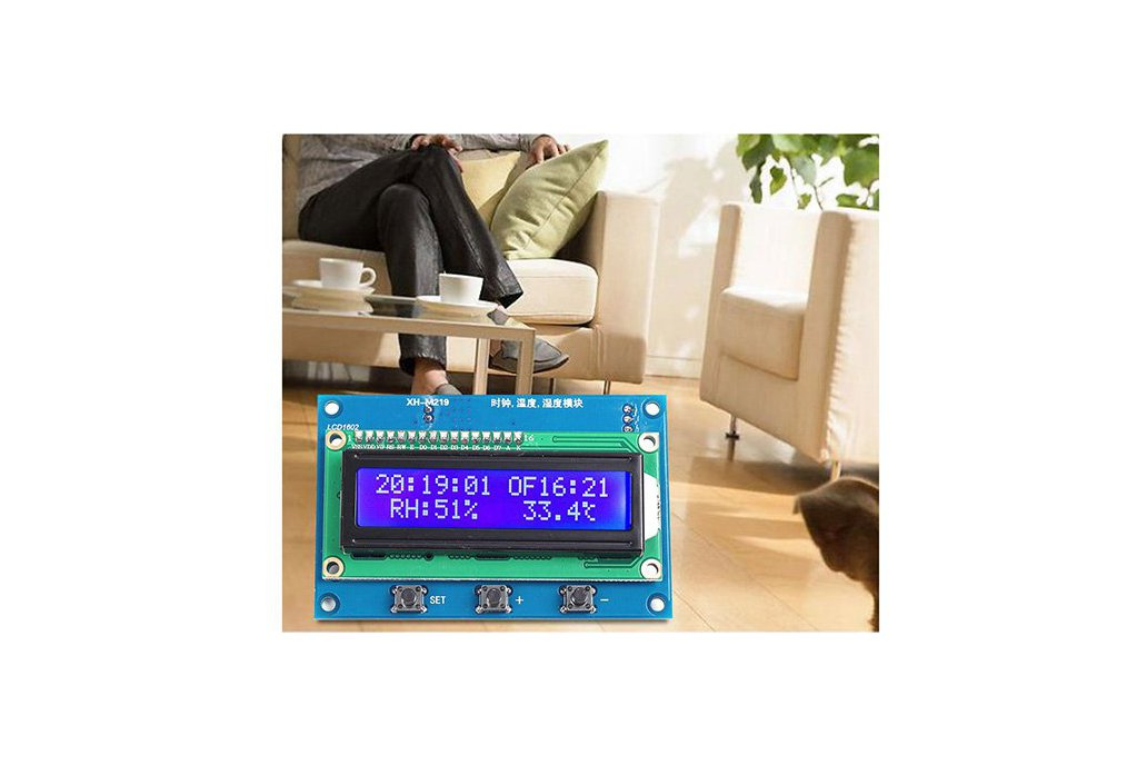 Clock Temperature Humidity Tester with LCD (13100) 4