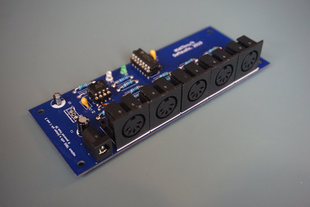 MIDI Thru 1in -> 4out splitter PCB or a Kit 1