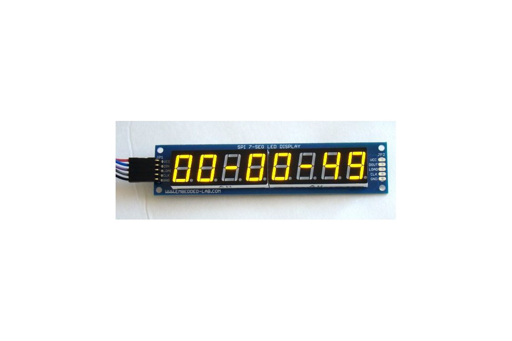 PCB for serial 7 segment LED display 2