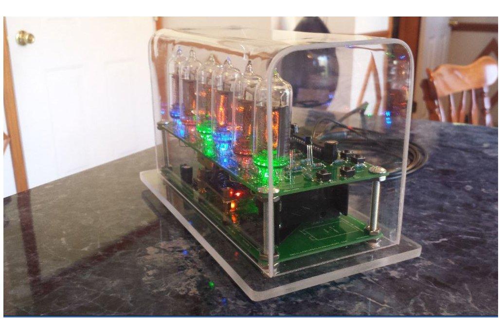 Six Digit Nixie Clock with IN-14 nixie tubes 7