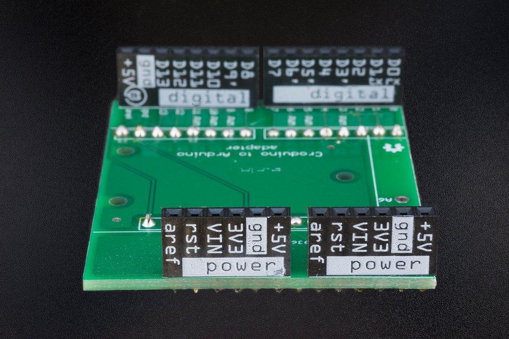 Croduino to Arduino adapter board 1
